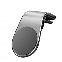 """""""L Shape"""" Magnet universāls telefona turētājs (restēm) - sudrabs"""