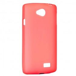 Cieta silikona matētas futrālis - sarkans (F60)