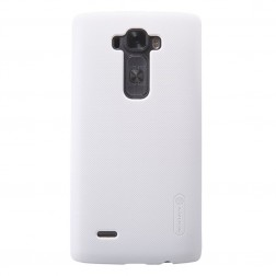 """Nillkin"" Frosted Shield apvalks - balts + ekrāna aizsargplēve (G Flex 2)"