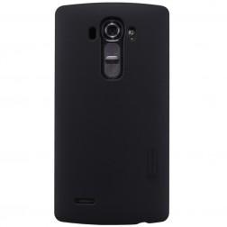 """Nillkin"" Frosted Shield apvalks - melns + ekrāna aizsargplēve (G4)"