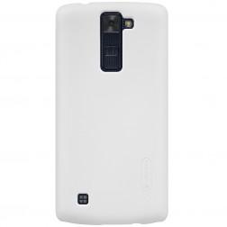 """Nillkin"" Frosted Shield apvalks - balts + ekrāna aizsargplēve (K8)"