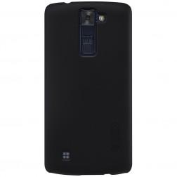"""Nillkin"" Frosted Shield apvalks - melns + ekrāna aizsargplēve (K8)"