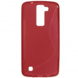 Cieta silikona (TPU) apvalks - sarkans (K8)