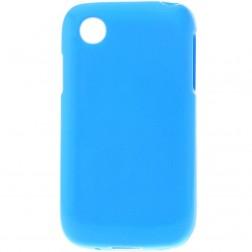 Cieta silikona matētas futrālis - zils (L40)