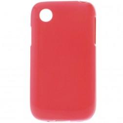 Cieta silikona matētas futrālis - sarkans (L40)