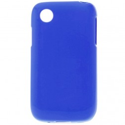 Cieta silikona matētas futrālis - tumši zils (L40)
