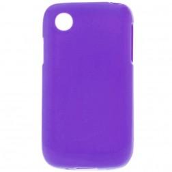 Cieta silikona matētas futrālis - violeta (L40)