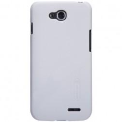 """""""Nillkin"""" Frosted Shield apvalks - balts + ekrāna aizsargplēve (L90 Dual)"""