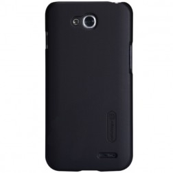 """Nillkin"" Frosted Shield apvalks - melns + ekrāna aizsargplēve (L90 Dual)"
