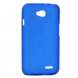 Cieta silikona matētas futrālis - zils (L90)