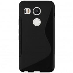 Cieta silikona (TPU) apvalks - melns (Nexus 5X)