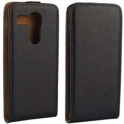 Klasisks atvēramais maciņš - melns (LG Nexus 5X)