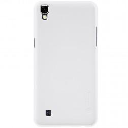 """Nillkin"" Frosted Shield apvalks - balts + ekrāna aizsargplēve (X Power)"