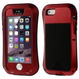"""""""LOVE MEI"""" Dropproof pastiprinātas aizsardzības apvalks - sarkans (iPhone 5 / 5S / SE)"""