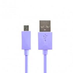 Micro USB 1.0 vads - violeta (1 m.)