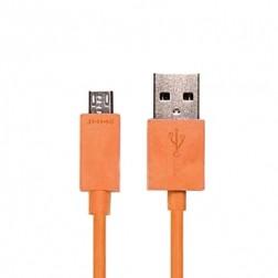 Micro USB 1.0 vads - oranžs (1 m.)