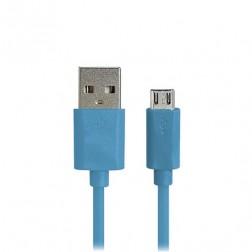 Micro USB 1.0 vads - zils (1 m.)
