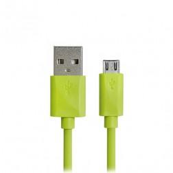 Micro USB 1.0 vads - zaļš (1 m.)