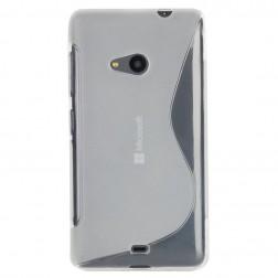 Cieta silikona (TPU) apvalks - dzidrs (Lumia 535)