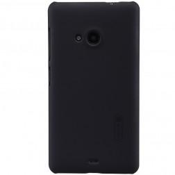 """Nillkin"" Frosted Shield apvalks - melns + ekrāna aizsargplēve (Lumia 535)"