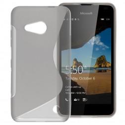 Cieta silikona (TPU) apvalks - dzidrs, pelēks (Lumia 550)