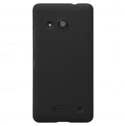 """Nillkin"" Frosted Shield apvalks - melns + ekrāna aizsargplēve (Lumia 550)"
