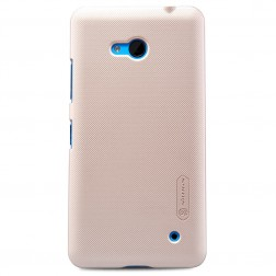 """Nillkin"" Frosted Shield apvalks - zelta + ekrāna aizsargplēve (Lumia 640)"