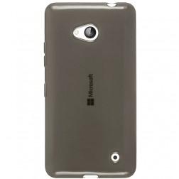 Planākais TPU dzidrs apvalks - pelēks (Lumia 640)