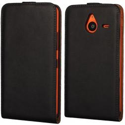 Klasisks atvēramais maciņš - melns (Lumia 640 XL)