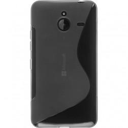 Cieta silikona (TPU) apvalks - dzidrs, pelēks (Lumia 640 XL)
