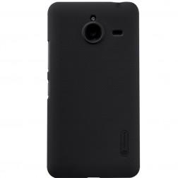 """Nillkin"" Frosted Shield apvalks - melns + ekrāna aizsargplēve (Lumia 640 XL)"