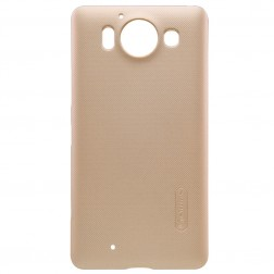 """Nillkin"" Frosted Shield apvalks - zelta + ekrāna aizsargplēve (Lumia 950)"