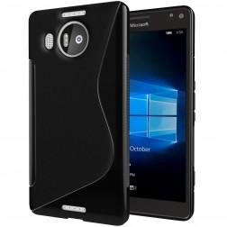 Cieta silikona (TPU) apvalks - melns (Lumia 950 XL)
