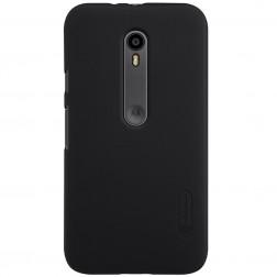 """Nillkin"" Frosted Shield apvalks - melns + ekrāna aizsargplēve (Moto G 3rd)"