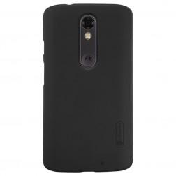 """Nillkin"" Frosted Shield apvalks - melns + ekrāna aizsargplēve (Moto X Force)"