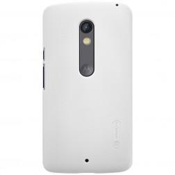 """Nillkin"" Frosted Shield apvalks - balts + ekrāna aizsargplēve (Moto X Play)"