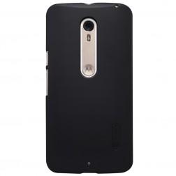 """Nillkin"" Frosted Shield apvalks - melns + ekrāna aizsargplēve (Moto X Style)"