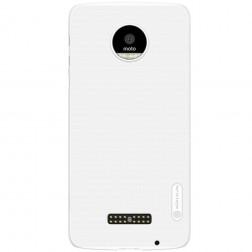 """Nillkin"" Frosted Shield apvalks - balts + ekrāna aizsargplēve (Moto Z)"