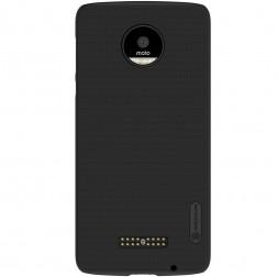 """Nillkin"" Frosted Shield apvalks - melns + ekrāna aizsargplēve (Moto Z)"