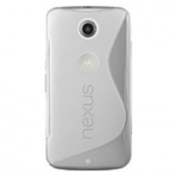 Cieta silikona apvalks - dzidrs (Nexus 6)