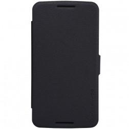 """""""Nillkin"""" Fresh atvēramais maciņš - melns (Nexus 6)"""