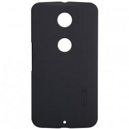 """Nillkin"" Frosted Shield apvalks - melns + ekrāna aizsargplēve (Nexus 6)"