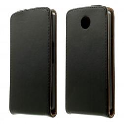 Klasisks atvēramais maciņš - melns (Nexus 6)
