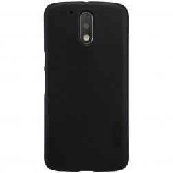 """Nillkin"" Frosted Shield apvalks - melns + ekrāna aizsargplēve (Moto G4 / Moto G4 Plus)"