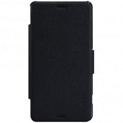 """Nillkin"" Fresh atvēramais futrālis - melns (Xperia Z3 Compact)"