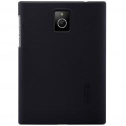 """Nillkin"" Frosted Shield apvalks - melns + ekrāna aizsargplēve (Passport)"