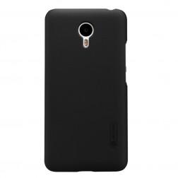 """Nillkin"" Frosted Shield apvalks - melns + ekrāna aizsargplēve (m2 note)"