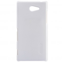"""""""Nillkin"""" Frosted Shield futrālis - balts + ekrāna aizsargplēve (Xperia M2)"""