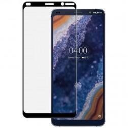 """""""Imak"""" Tempered Glass pilnīgi aizsedzams ekrāna aizsargstikls 0.2 mm - melns (Nokia 9 PureView)"""