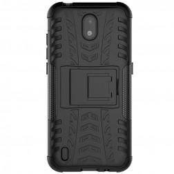 """Kickstand"" cieta silikona (TPU) apvalks - melns (Nokia 1.3)"
